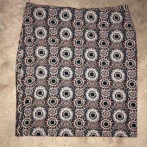 Ann Taylor patterned skirt size 10